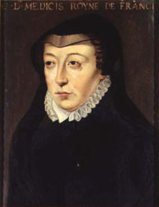 Catherine des Medicis, more recognisable as a French widow than a Florentine child